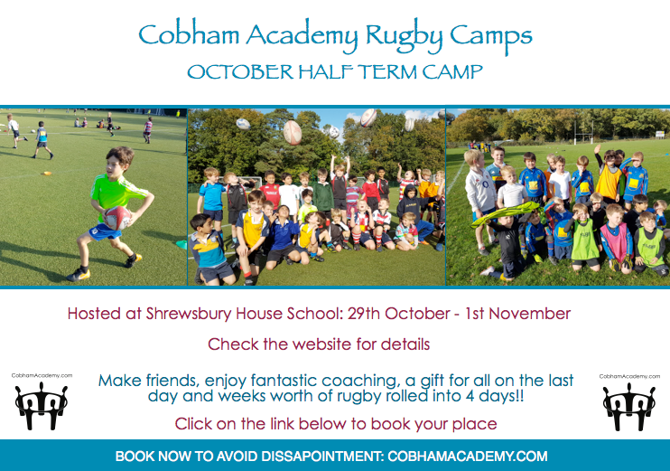 October rugby camp bookings open!